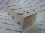 """Полотенца бумажные """"Мякишко"""" (33) однослойные, 23х23 см, 200 л., V-сложение,макулатура"""